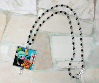 Aqua Koalas App Icon Necklace
