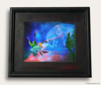 Aqua Koalas Classic Painting 10-by-14 Black Gallery Frame 10