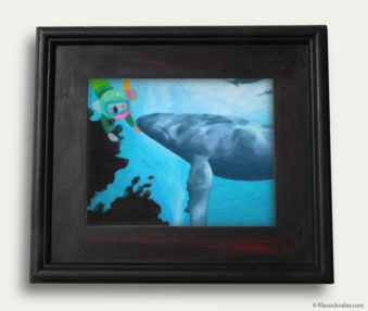 Aqua Koalas Classic Painting 10-by-14 Black Gallery Frame 13