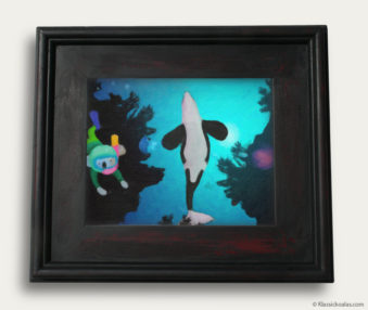 Aqua Koalas Classic Painting 10-by-14 Black Gallery Frame 4