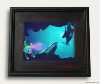 Aqua Koalas Classic Painting 10-by-14 Black Gallery Frame 6
