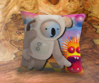 Dream Koalas App Icon 22-Inch Linen Pillow