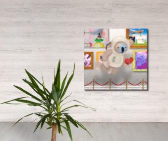 Dream Koalas Fabric Mural 4 by 4 Feet 2