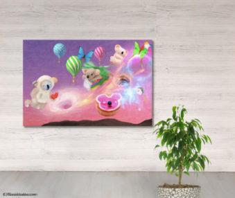 Dream Koalas Fabric Mural 4 by 5 Feet 13
