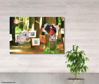 Dream Koalas Fabric Mural 4 by 5 Feet 17