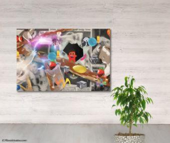 Dream Koalas Fabric Mural 4 by 5 Feet 18