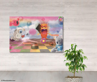 Dream Koalas Fabric Mural 4 by 5 Feet 4