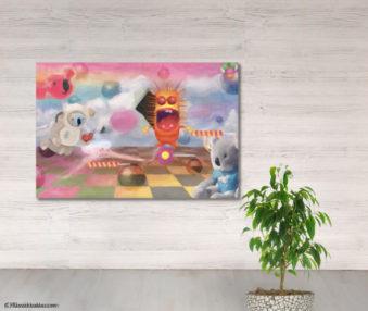 Dream Koalas Fabric Mural 4 by 5 Feet 4