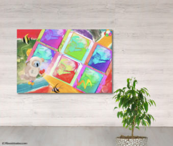Dream Koalas Fabric Mural 4 by 5 Feet 6