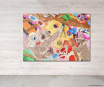 Dream Koalas Fabric Mural 5 by 7 Feet 11