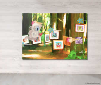 Dream Koalas Fabric Mural 5 by 7 Feet 15