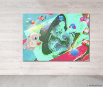 Dream Koalas Fabric Mural 5 by 7 Feet 17