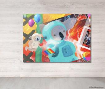 Dream Koalas Fabric Mural 5 by 7 Feet 20