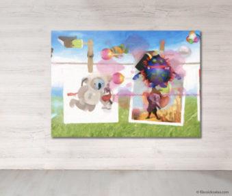 Dream Koalas Fabric Mural 5 by 7 Feet 25