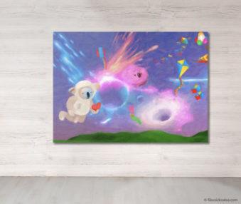 Dream Koalas Fabric Mural 5 by 7 Feet 4