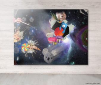 Dream Koalas Fabric Mural 6 by 8 Feet 13