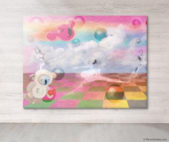 Dream Koalas Fabric Mural 6 by 8 Feet 2