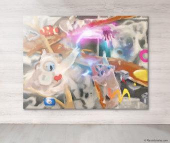 Dream Koalas Fabric Mural 6 by 8 Feet 20