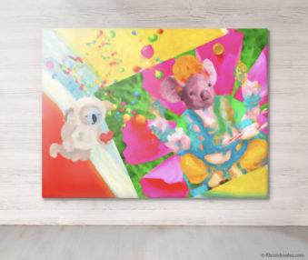 Dream Koalas Fabric Mural 6 by 8 Feet 8