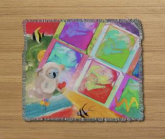 Dream Koalas Fringe Blanket 50 by 60 2