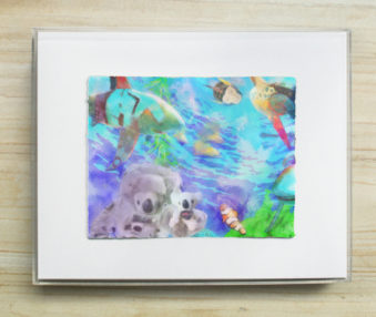 Dream Koalas Pastel : WatercolorPainting 8 by 10 Frame 4