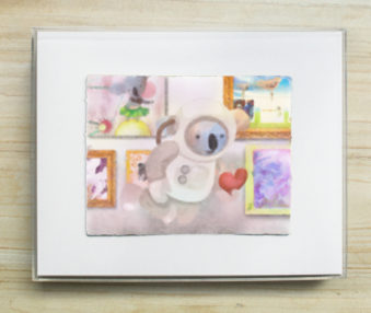Dream Koalas Pastel : Watercolorr Painting 8 by 10 Frame 11