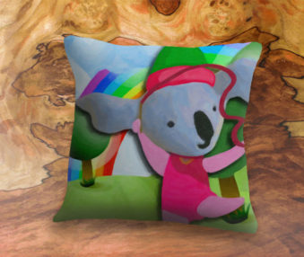 Happy Koalas App Icon 22-Inch Linen Pillow