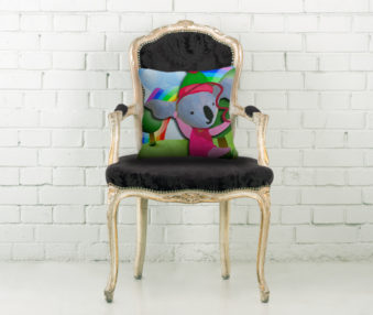 Happy Koalas Throw Pillow
