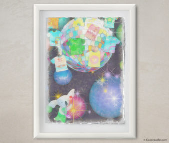 Happy Koalas Watercolor Pastel Painting 12-by-16 Inches White Frame 13