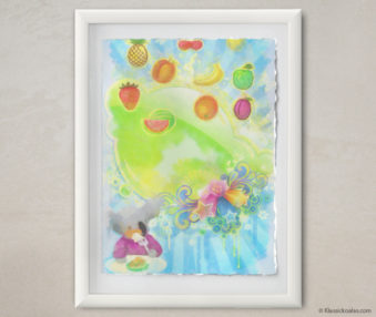 Happy Koalas Watercolor Pastel Painting 12-by-16 Inches White Frame 7