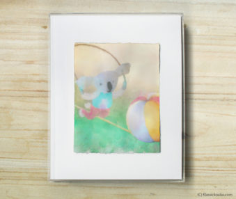 Happy Koalas Watercolor Pastel Painting 8-by-10 Inch Frame 10