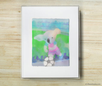 Happy Koalas Watercolor Pastel Painting 8-by-10 Inch Frame 13