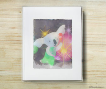 Happy Koalas Watercolor Pastel Painting 8-by-10 Inch Frame 14