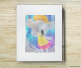 Happy Koalas Watercolor Pastel Painting 8-by-10 Inch Frame 15