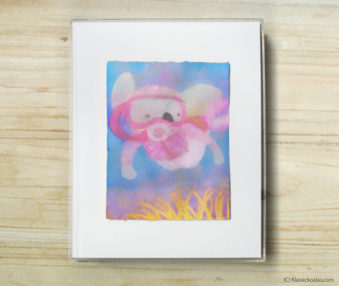 Happy Koalas Watercolor Pastel Painting 8-by-10 Inch Frame 17