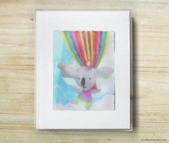 Happy Koalas Watercolor Pastel Painting 8-by-10 Inch Frame 19