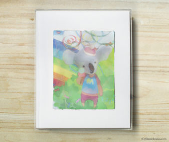 Happy Koalas Watercolor Pastel Painting 8-by-10 Inch Frame 2
