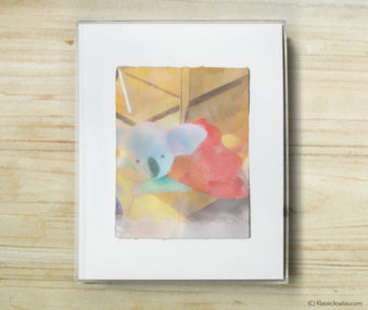 Happy Koalas Watercolor Pastel Painting 8-by-10 Inch Frame 21