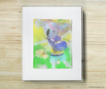 Happy Koalas Watercolor Pastel Painting 8-by-10 Inch Frame 22