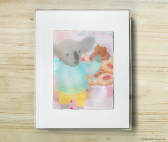 Happy Koalas Watercolor Pastel Painting 8-by-10 Inch Frame 27