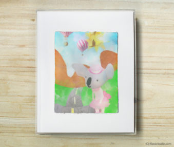 Happy Koalas Watercolor Pastel Painting 8-by-10 Inch Frame 3