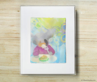 Happy Koalas Watercolor Pastel Painting 8-by-10 Inch Frame 30
