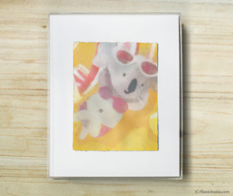 Happy Koalas Watercolor Pastel Painting 8-by-10 Inch Frame 31