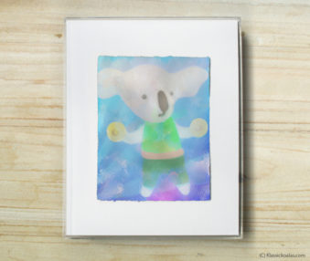 Happy Koalas Watercolor Pastel Painting 8-by-10 Inch Frame 32
