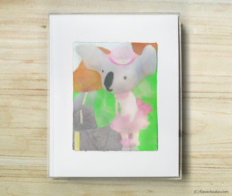 Happy Koalas Watercolor Pastel Painting 8-by-10 Inch Frame 35