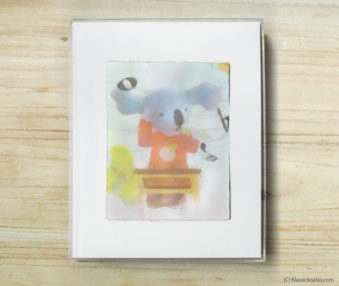 Happy Koalas Watercolor Pastel Painting 8-by-10 Inch Frame 37
