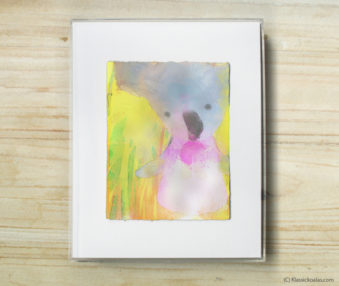 Happy Koalas Watercolor Pastel Painting 8-by-10 Inch Frame 38