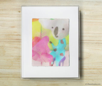 Happy Koalas Watercolor Pastel Painting 8-by-10 Inch Frame 39