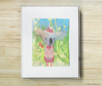 Happy Koalas Watercolor Pastel Painting 8-by-10 Inch Frame 4