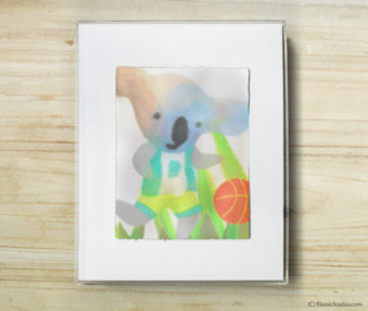 Happy Koalas Watercolor Pastel Painting 8-by-10 Inch Frame 45